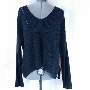 Converse All Star Long Sleeve Knit Top Black Women